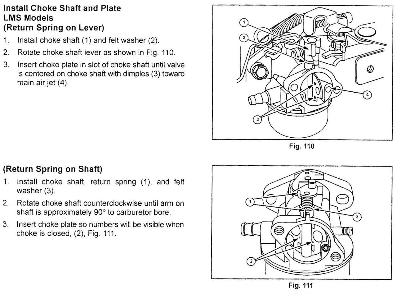 Briggs And Stratton Lawn Mower Carburetor Springs Diagram