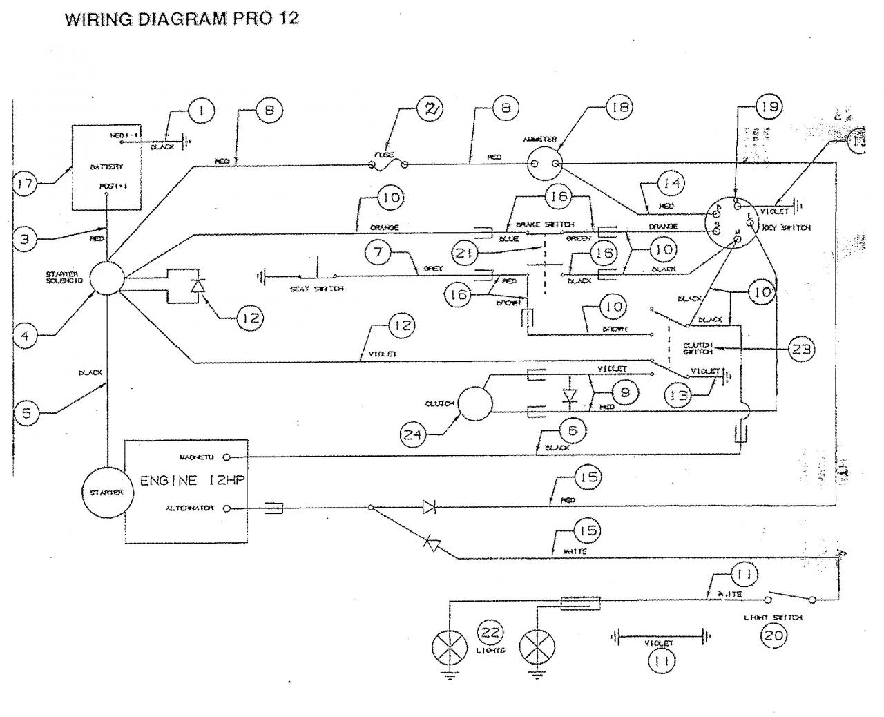 Hp Wiring Diagram Auto Electrical Yamaha Also Diesel Tractor 1956 Marine Ignition Switch Victa Pro With Tecumseh 13 Troubles