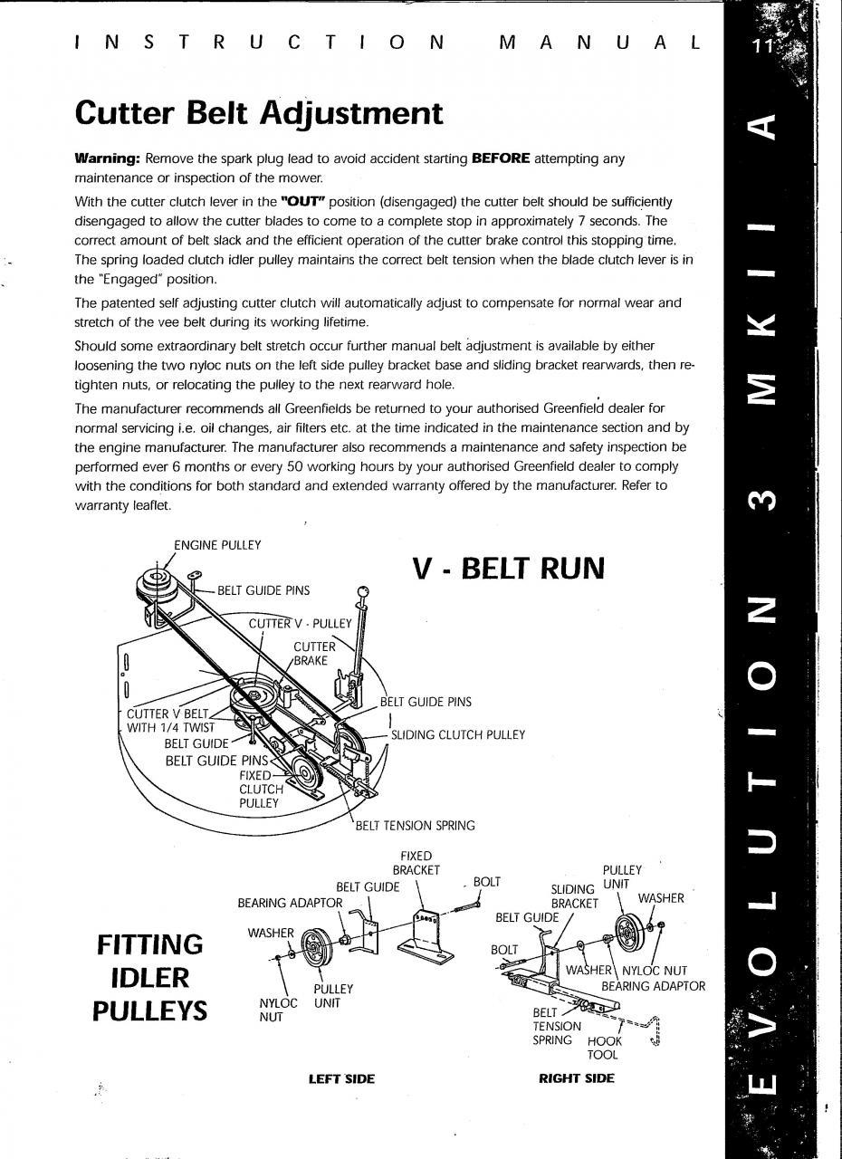 Greenfield -idler Pulley  U0026 Belts