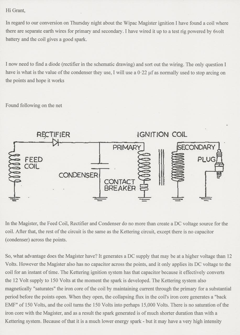 Wipac Magister Condenser Discharge Ignition System Outdoorking Wiring Diagram For Scotts Lawn Mower This Year Ive Bought Two Scott Bonnar Reel Mowers On Ebay A Supercut And Model 43 Both With 155cc Engines From The Early 1960s