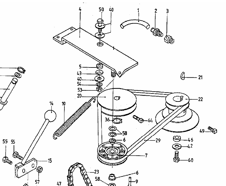 Craftsman Gt3000 Mower Deck Belt Replacement Diagram additionally Mower Deck 46 Inch also Replacing Belt 1986 Murray Lawn Mower 375706 moreover Cub Cadet Mower Deck Parts Diagram also 42 Craftsman Mower Deck Diagram. on yard machine drive belt numbers