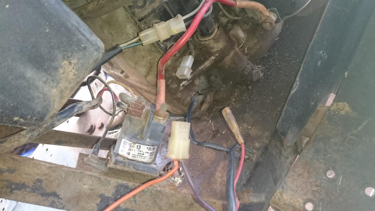 re greenfield ride on electrical wiring questions on neither the orange from ignition or the purple wire going to hour metre this is not the original engine and obviously they