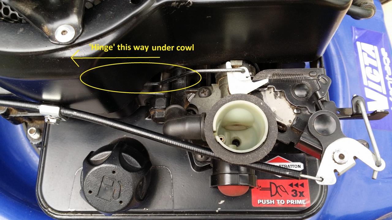 how to connect governor linkage to carburator on 21c214-0530-e1