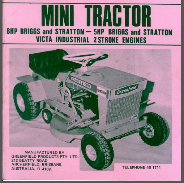 Greenfield Idler Pulley Belts: My GreenField Mini Tractor 8