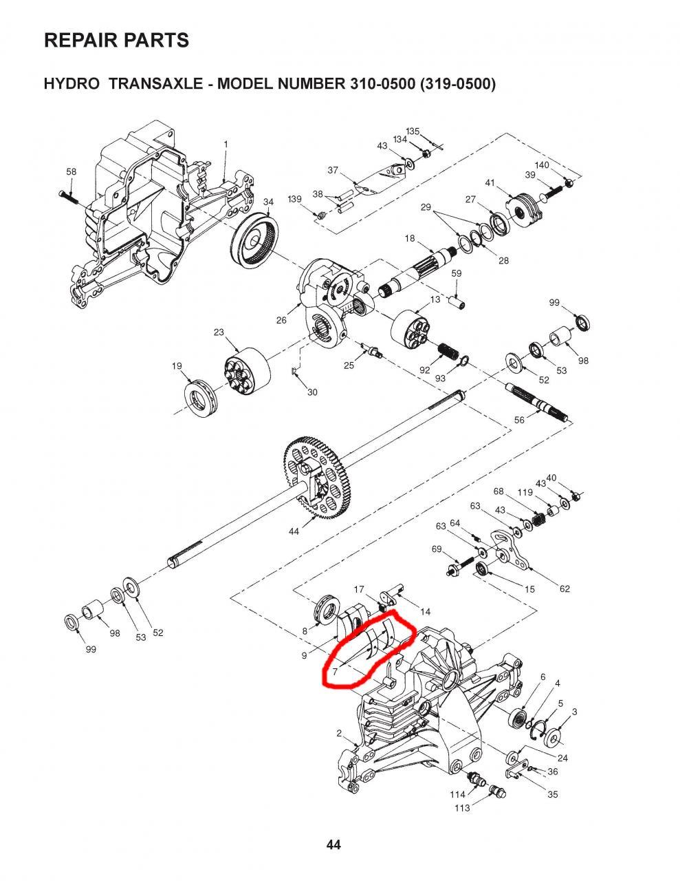 Husqvarna LTH130 - Hydrogear 319-0500 problem - OutdoorKing Repair Forum