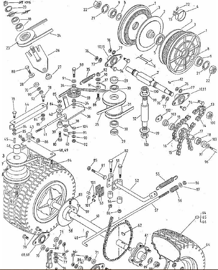 rover rancher 01866 - final drive sprockets