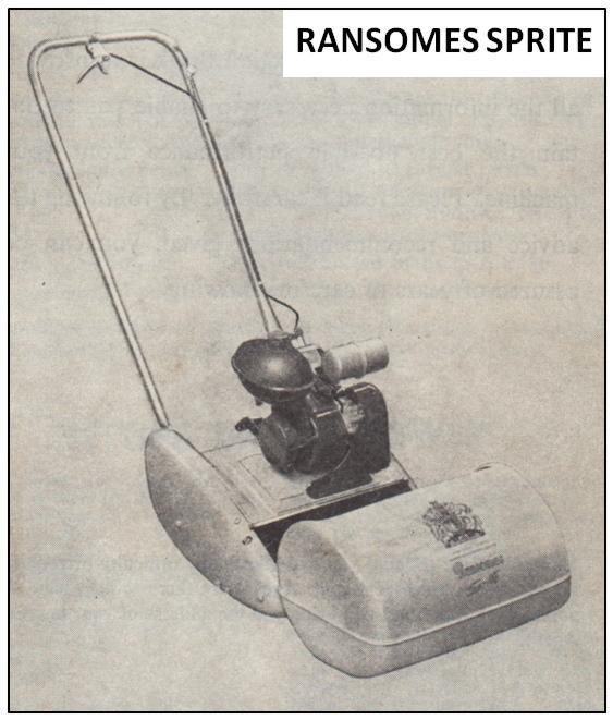 RANSOMES - Sprite - c1960 - OutdoorKing Repair Forum