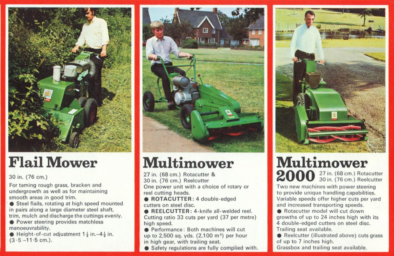RANSOMES - Brochure - Full Line - c1972 - OutdoorKing Repair