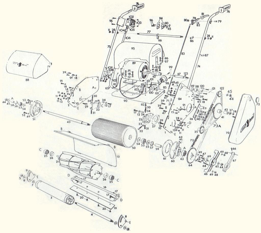 Model 40 - 14 U0026quot  Reel Lawnmower - C1961
