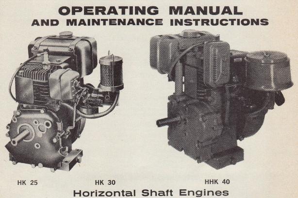 KIRBY - HK25 and HK30 Engines - OutdoorKing Repair Forum