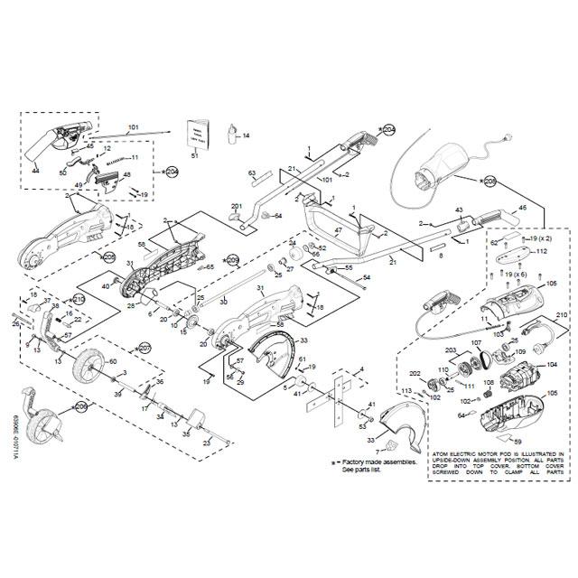 Atom 310 Edger Parts List